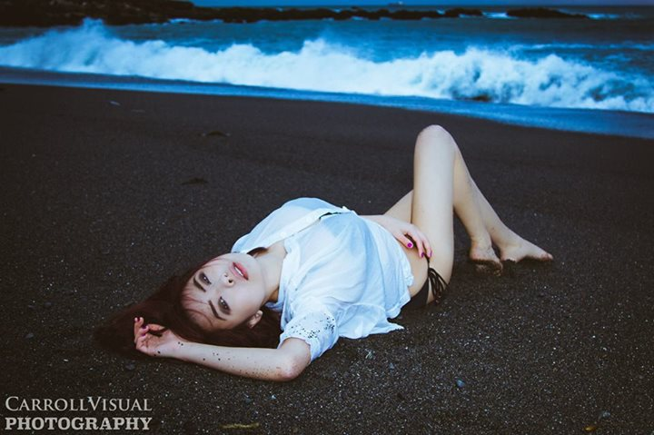 Female model photo shoot of Eve-ness by CarrollVisual in Owhiro Bay, Wellington