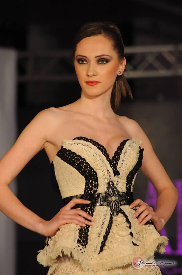 Female model photo shoot of Alina Boitor in Bucharest Fashion Week