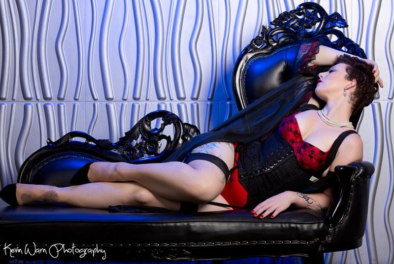 Female model photo shoot of - Abigail - by Kevin Warn, clothing designed by Cheri Wilson Chagollan