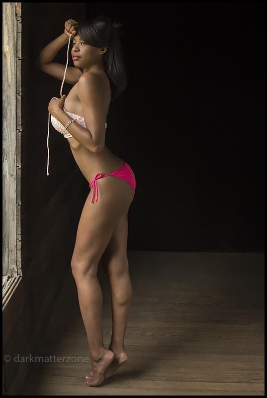 Female model photo shoot of kimberly blatchford by Dark Matter Zone