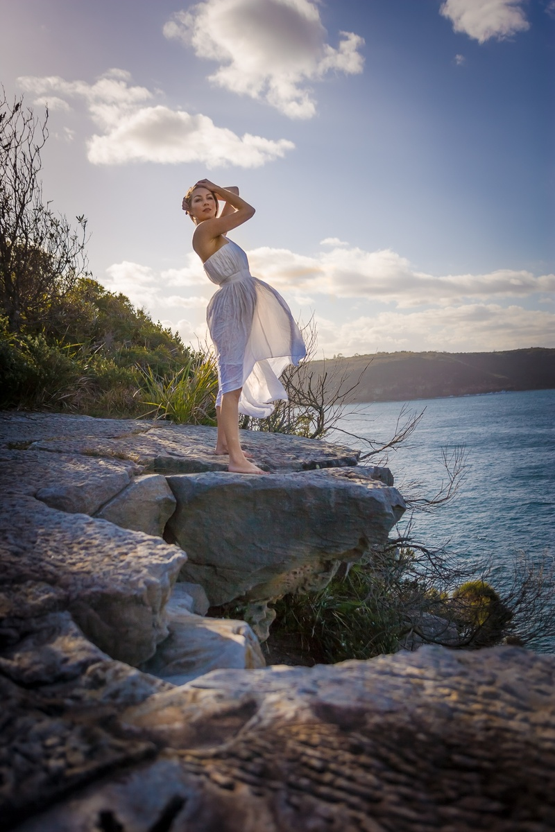 Female model photo shoot of Kit Que in Bradley's Head Sydney
