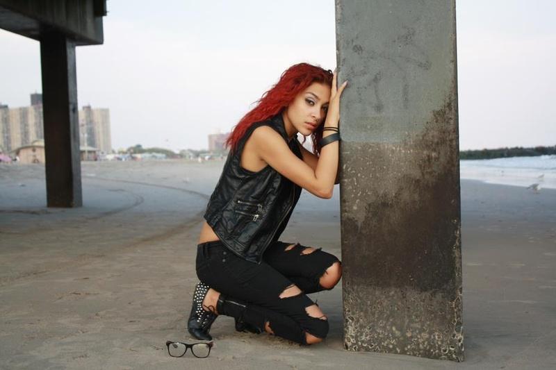 Female model photo shoot of battgirl  in coney island