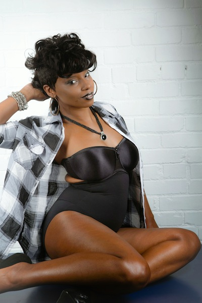Female model photo shoot of MsKandyKane in KANSAS CITY MO, makeup by J Sential, clothing designed by MGOT CLOTHING