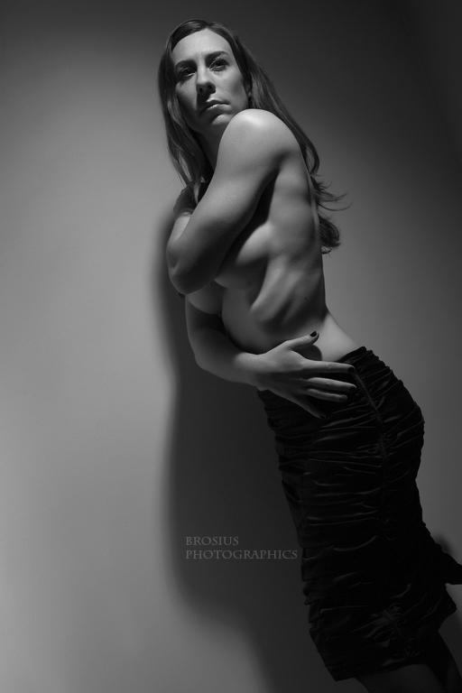 Female model photo shoot of Teagan Marie by Brosius Photographics in Pittsburgh, studio shoot