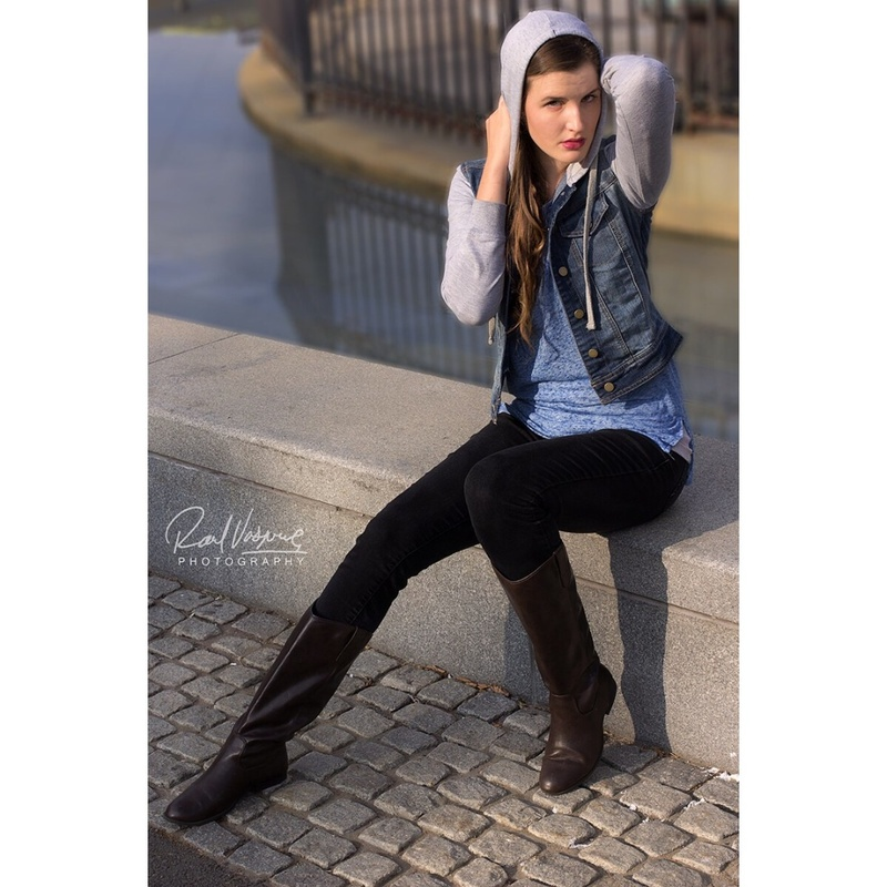 Male and Female model photo shoot of RaulVasquez and JuliaPiper in New haven, Downtown