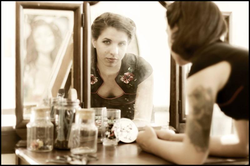 Female model photo shoot of Mina Blue in MOAH: Cedar Center, Lancaster Blvd