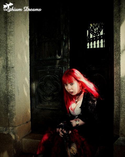Female model photo shoot of LithiumAura by MorbidDreams in Westview Cemetery