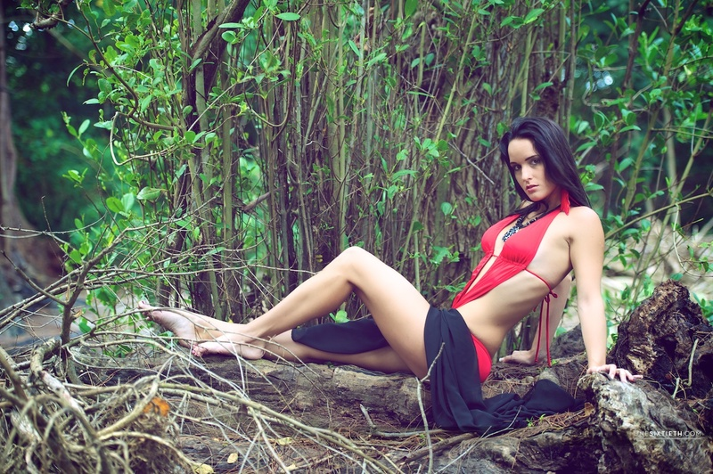 Female model photo shoot of Ariana Latina King in Barbados