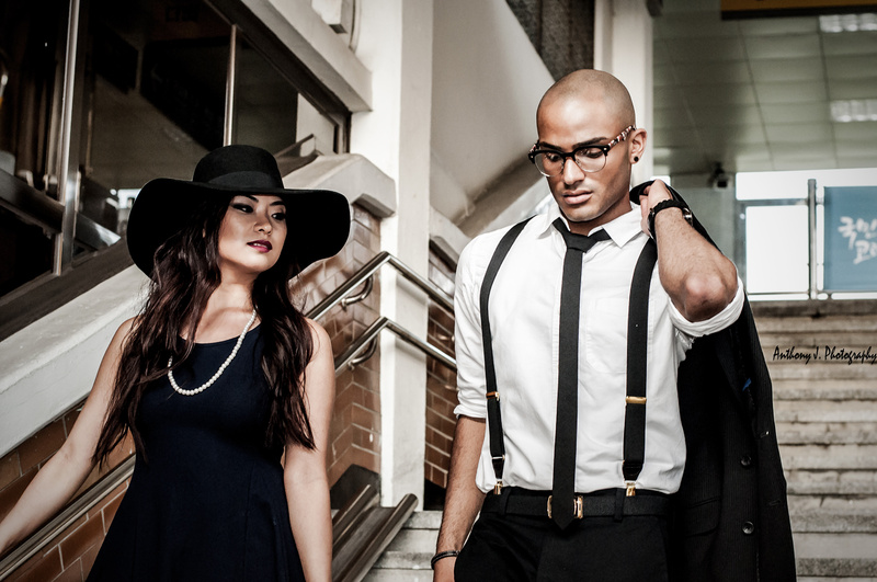 Male and Female model photo shoot of Anthony J. Photography, Ca8 and dashjamarr in Seoul, Korea, makeup by Natalia Che