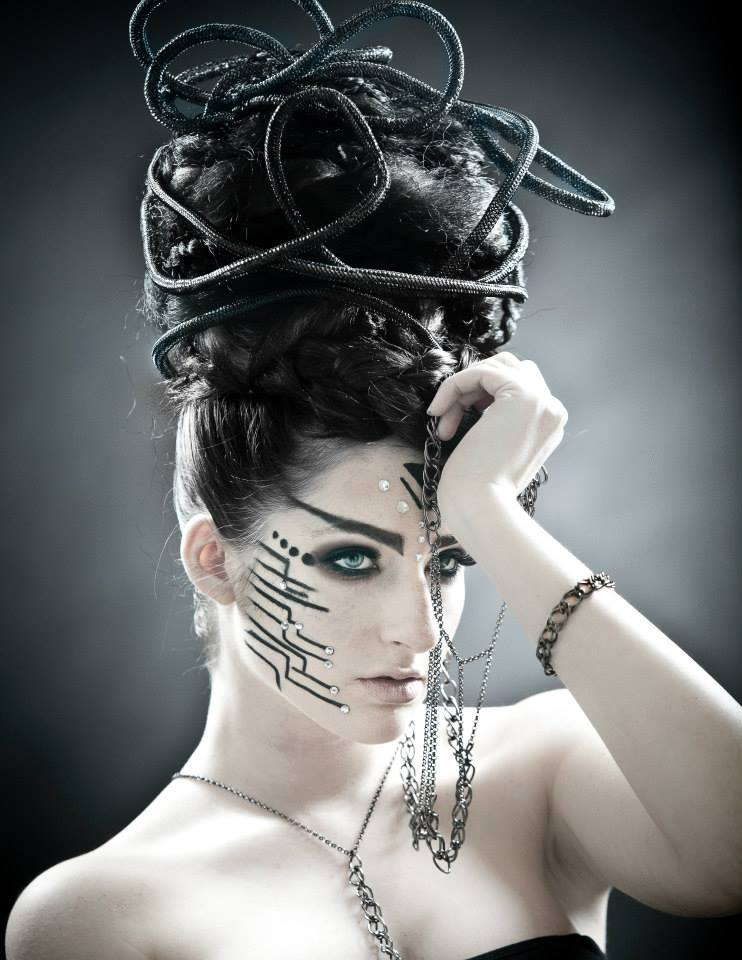 Female model photo shoot of HEATHER 19 in Dark Beauty Magazine ISSUE 36: Match Made in Hell
