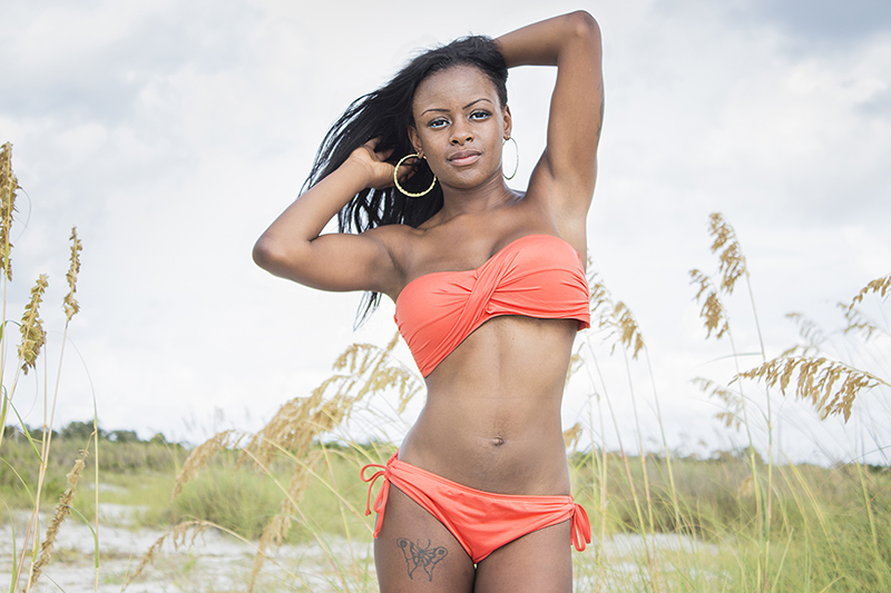Male and Female model photo shoot of Dylan Ireland and Tiphani Gee in Fort De Soto Beach