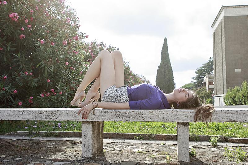 Female model photo shoot of Renee K in Rome, Italy
