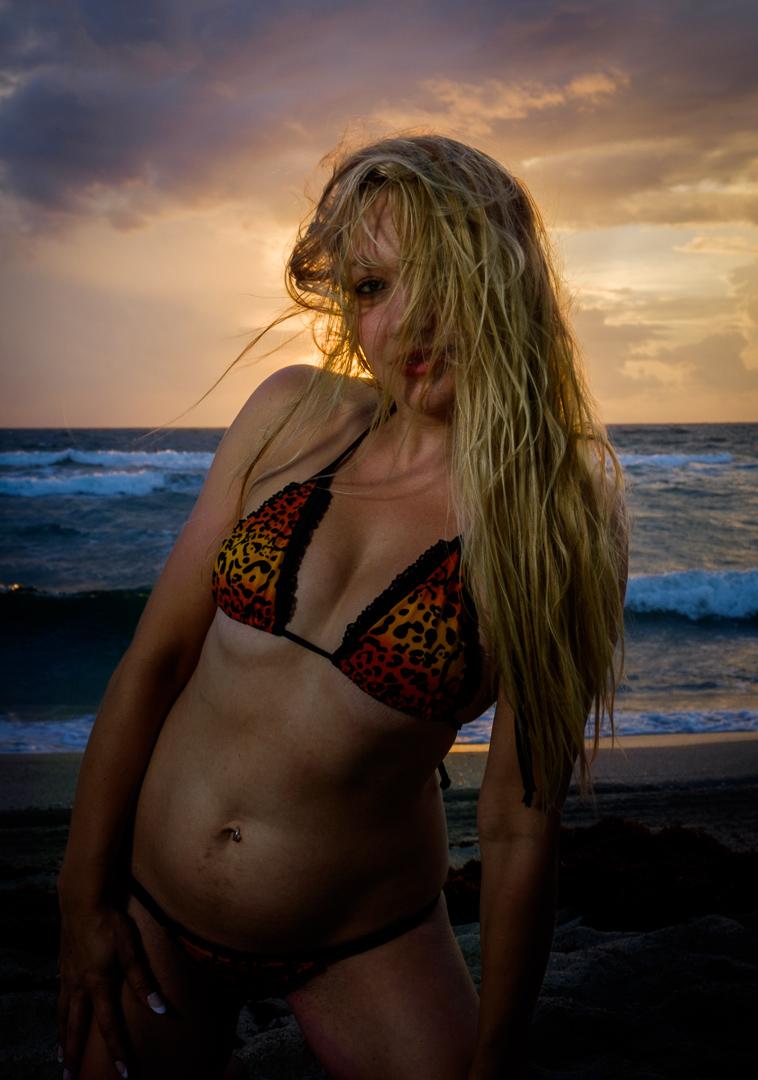Female model photo shoot of AmberLeeW in Haulover Beach, Florida