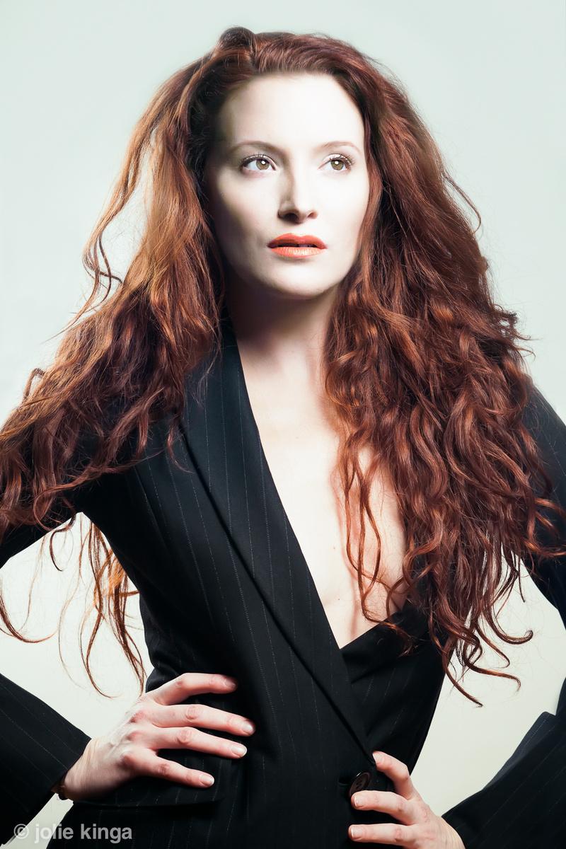 Female model photo shoot of jolie kinga in jk studio