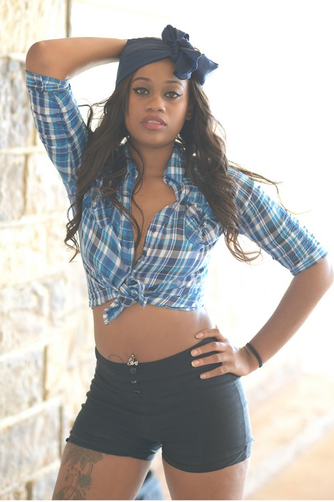 Female model photo shoot of Kiara Gulley in Downtown of Oklahoma City, OK
