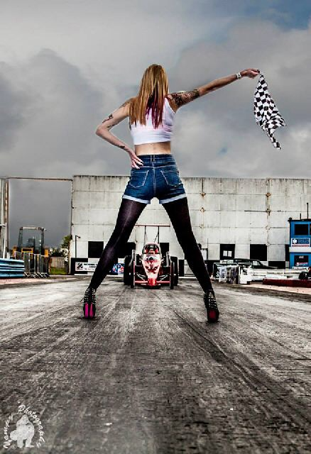 Female model photo shoot of ClaudiaC_ in Shakespeare County Raceway