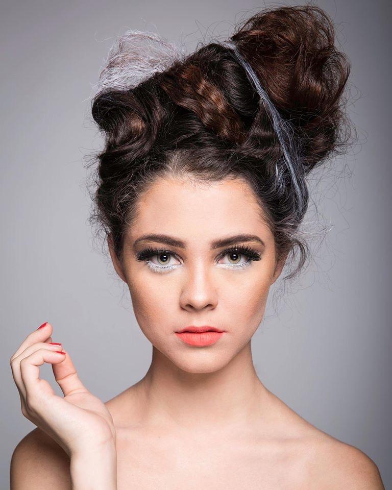 Female model photo shoot of Sharli B Artistry