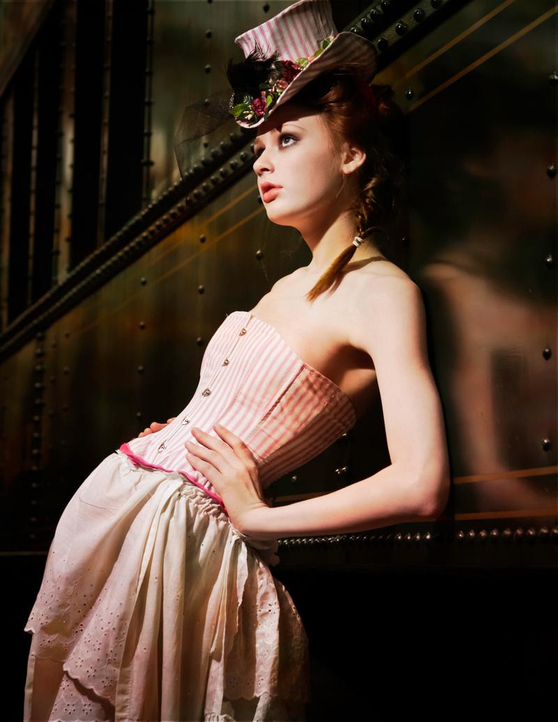 Female model photo shoot of Vanessa VonRouge, makeup by Sasha Star