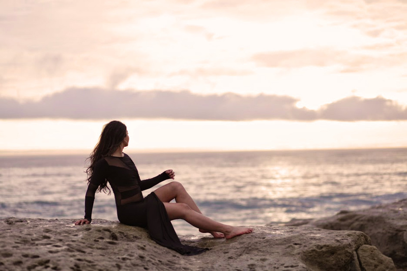 Female model photo shoot of Min M by audio_science in Santa Cruz, CA