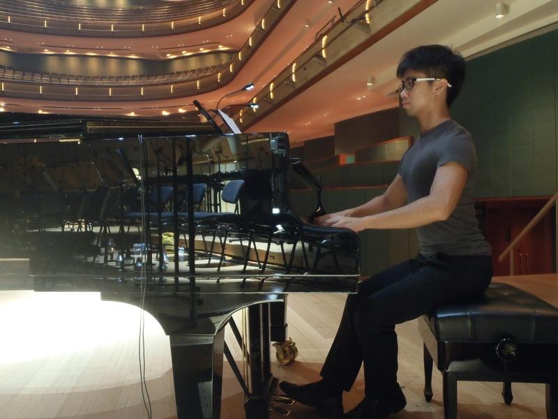 Male model photo shoot of David Chou in Esplanade Concert Hall