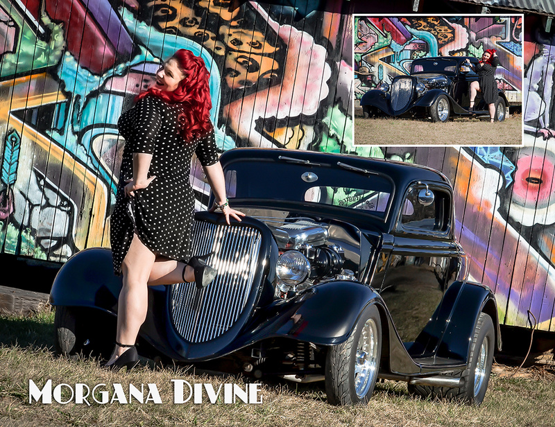 Female model photo shoot of Morgana Divine Pinups in Asheville, NC