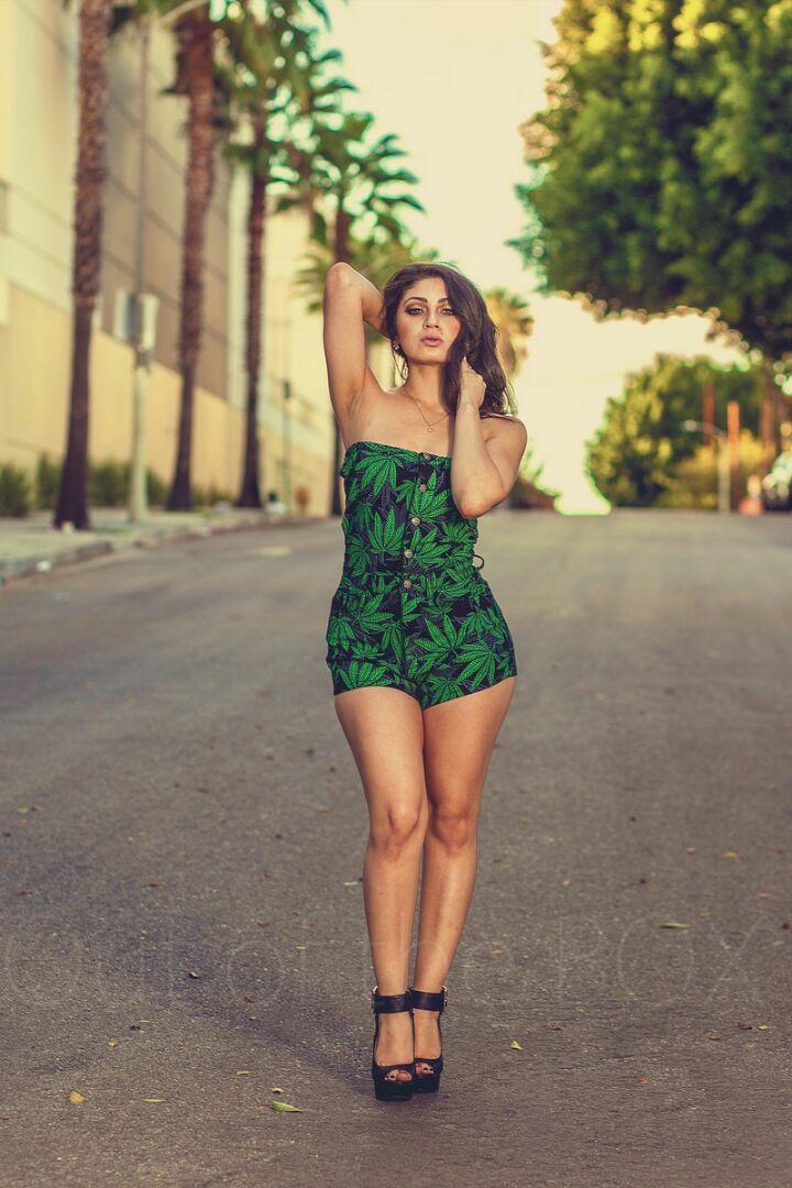 Female model photo shoot of Fanny Jimenez in DOWNTOWN LOS ANGELES