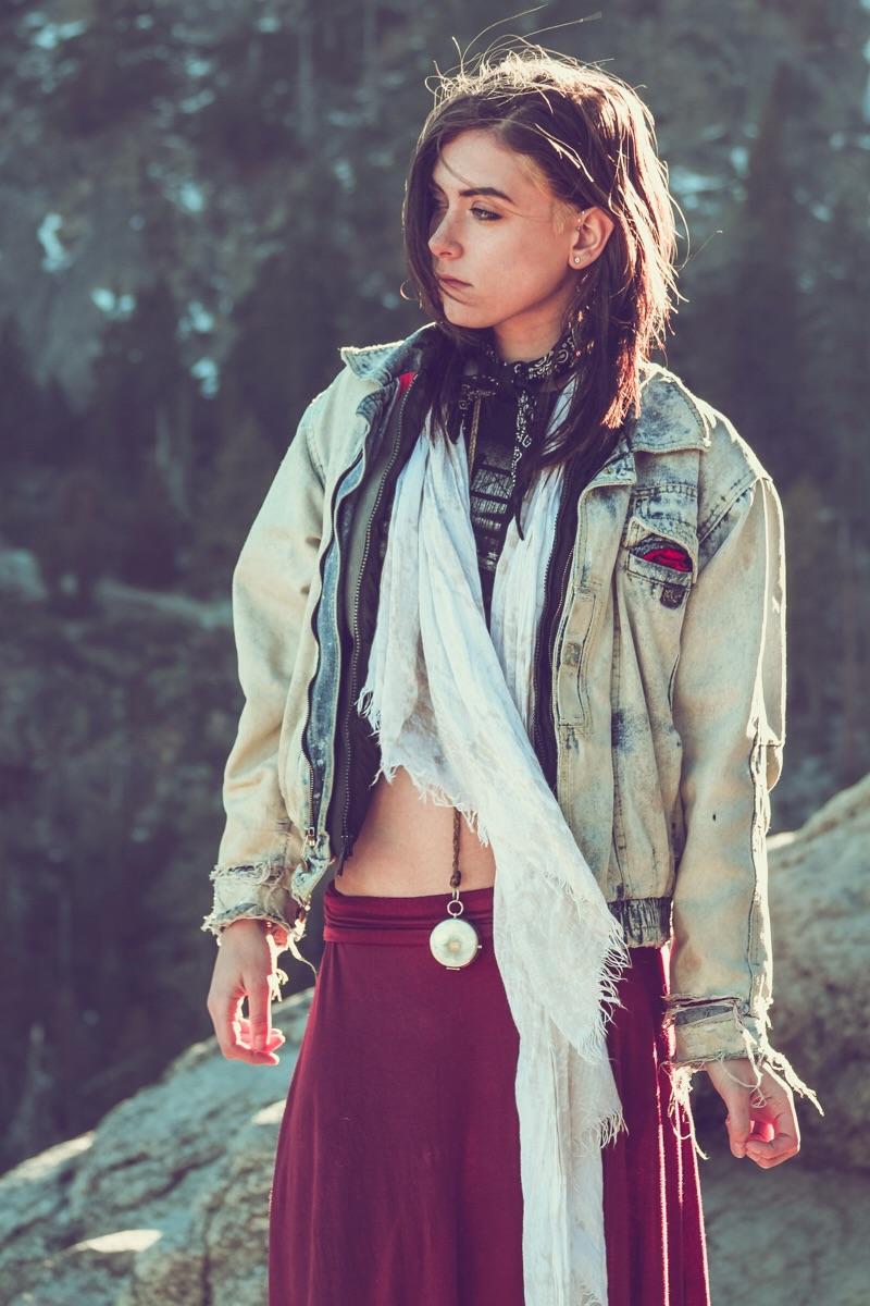 Female model photo shoot of Brigieta Lei in Lake Tahoe, California