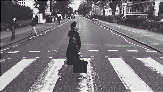 Female model photo shoot of SUNDAWSON in Abbey Road, London