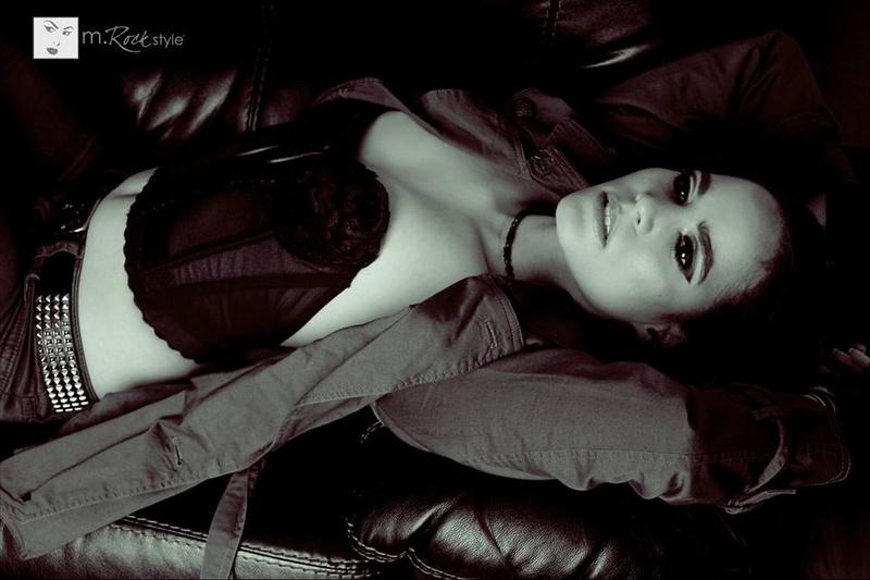 Female model photo shoot of M Rock Style and AlyssaCW