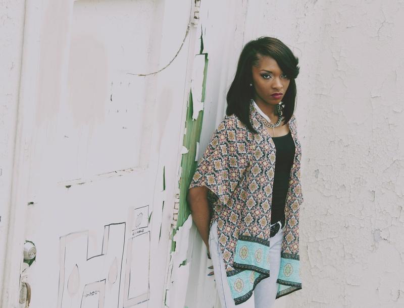 Female model photo shoot of LaShunte by V Tex