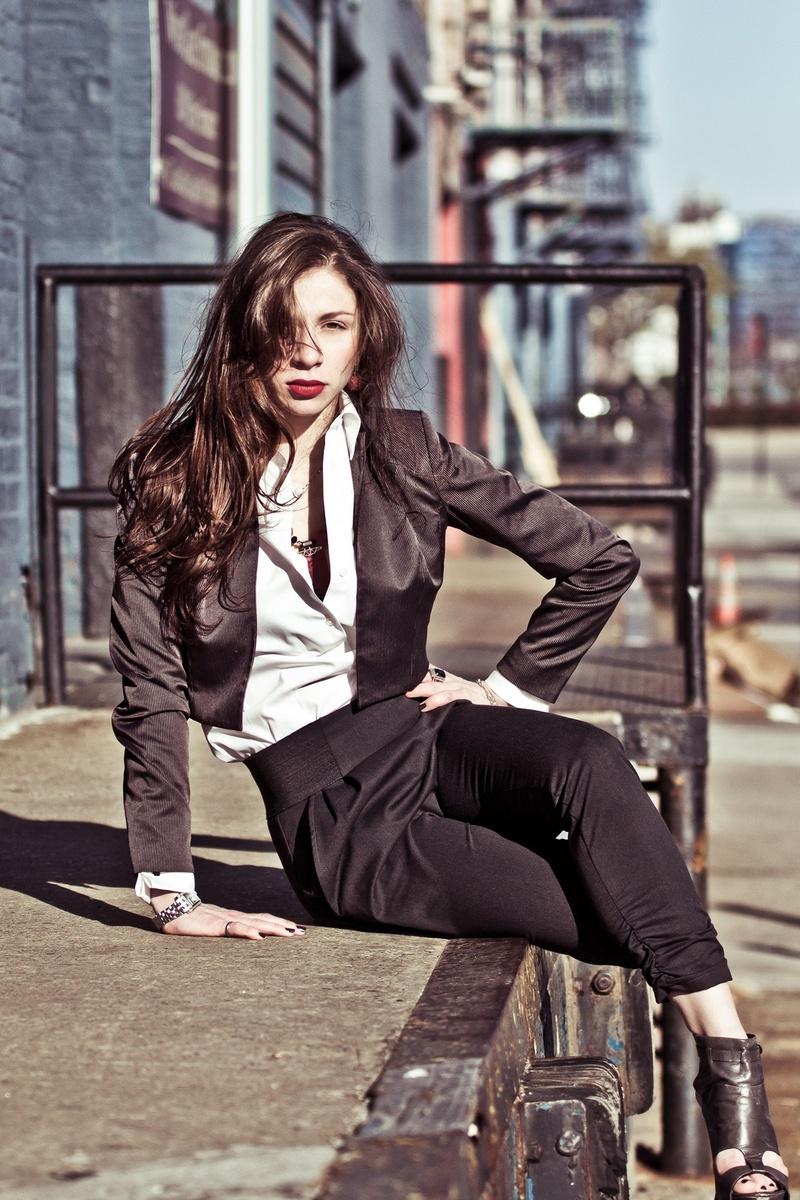Female model photo shoot of Alina Misss by GKofNYC in NYC