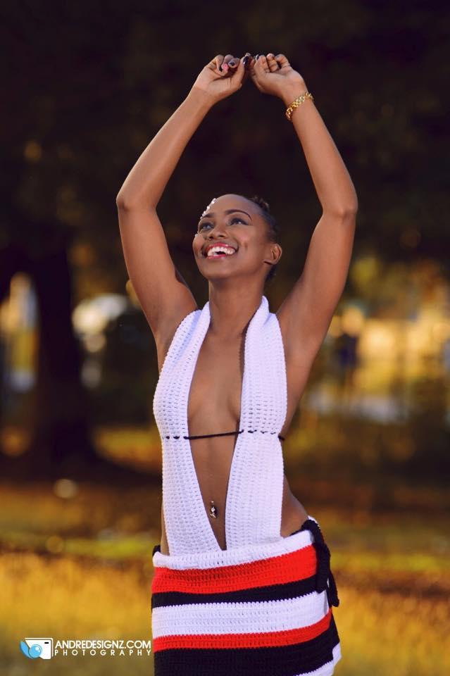 Female model photo shoot of Lasana Lewis by Andredesignz