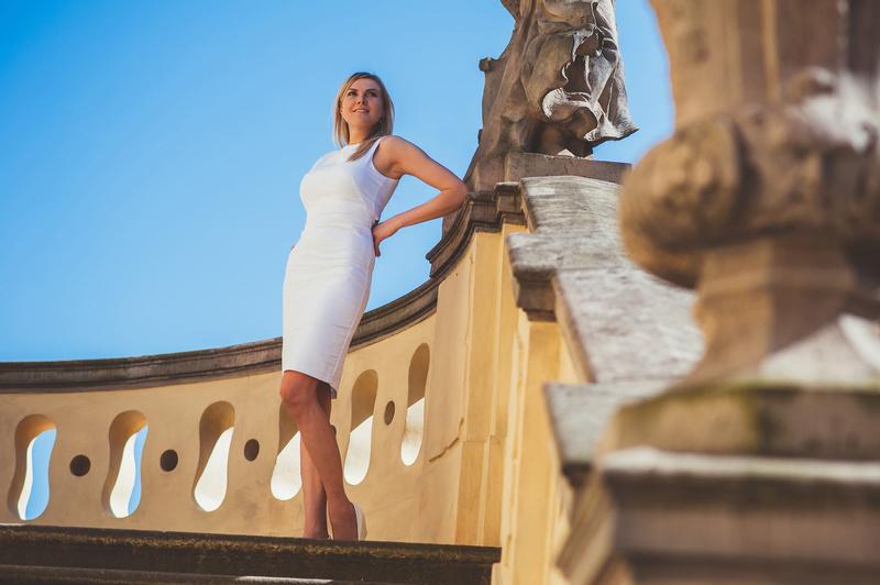 Female model photo shoot of Mari Kadlex in Prague