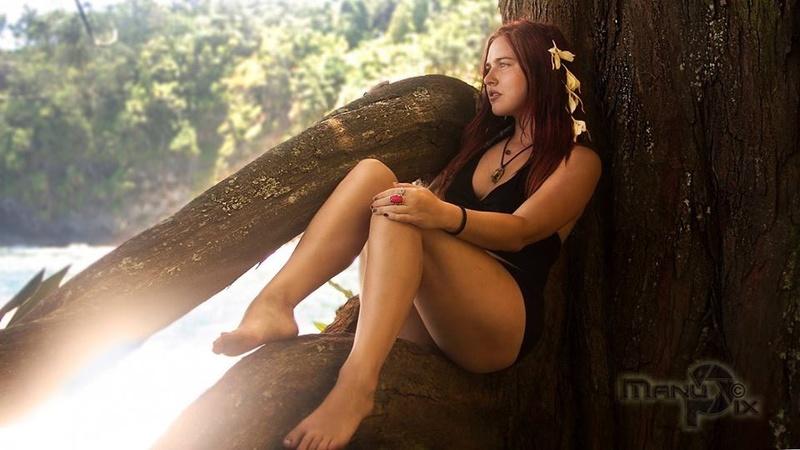 Female model photo shoot of CalleLee in Hawaii