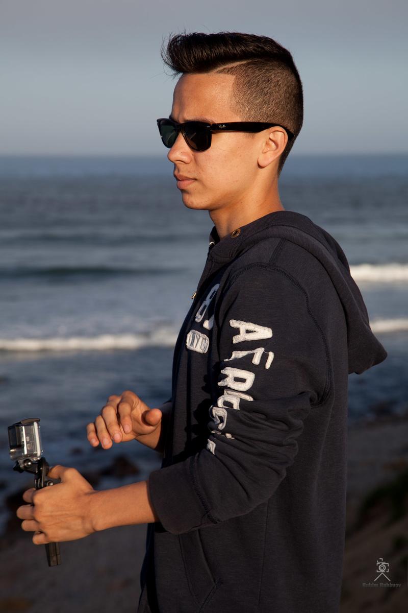 Male model photo shoot of Art studio R plus