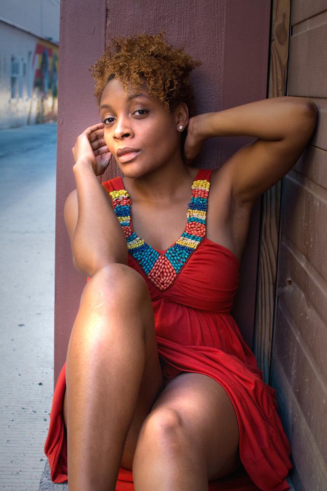 Female model photo shoot of asbenjamin