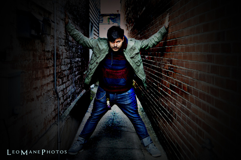 Male model photo shoot of Leo Mane Photography in Maysville Ky Back Alleys