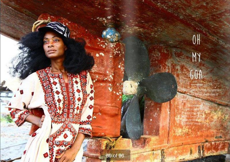 Female model photo shoot of Laura Parkes Styling  in Goa