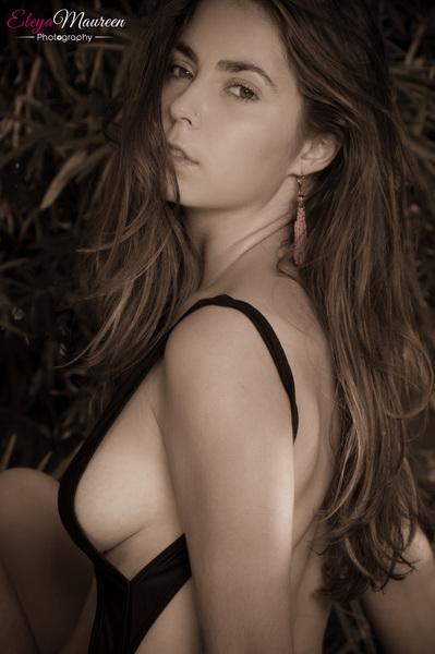 Female model photo shoot of Dasha Blush Nudes in poolside