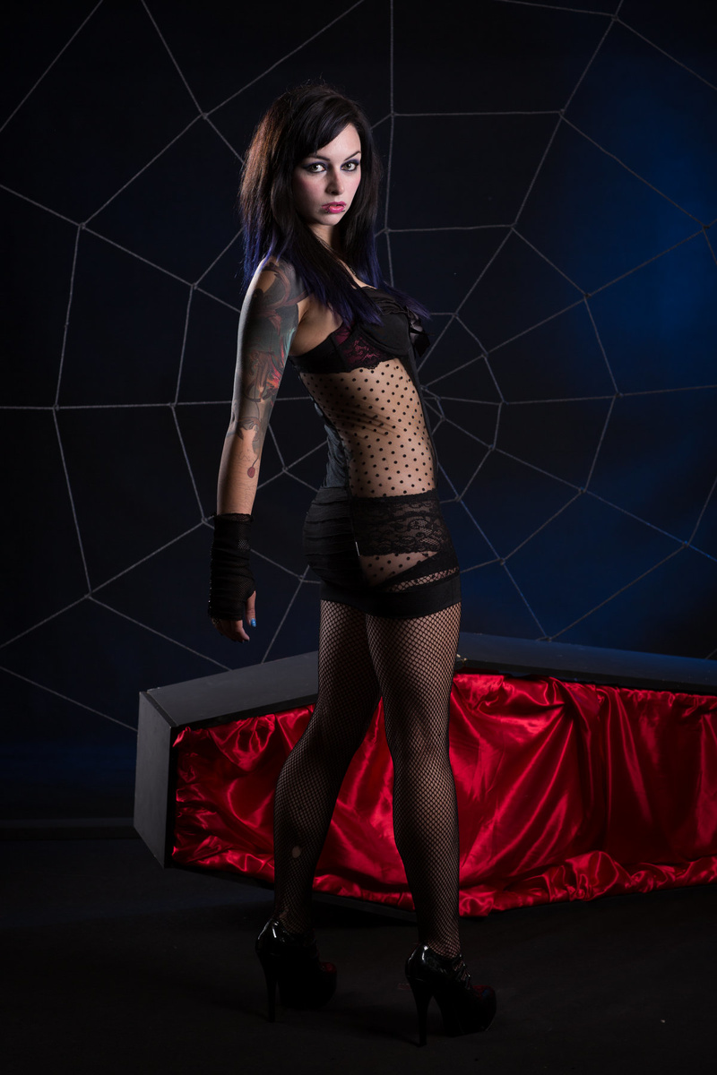 Female model photo shoot of Ethereal Misfit by Model Photographic