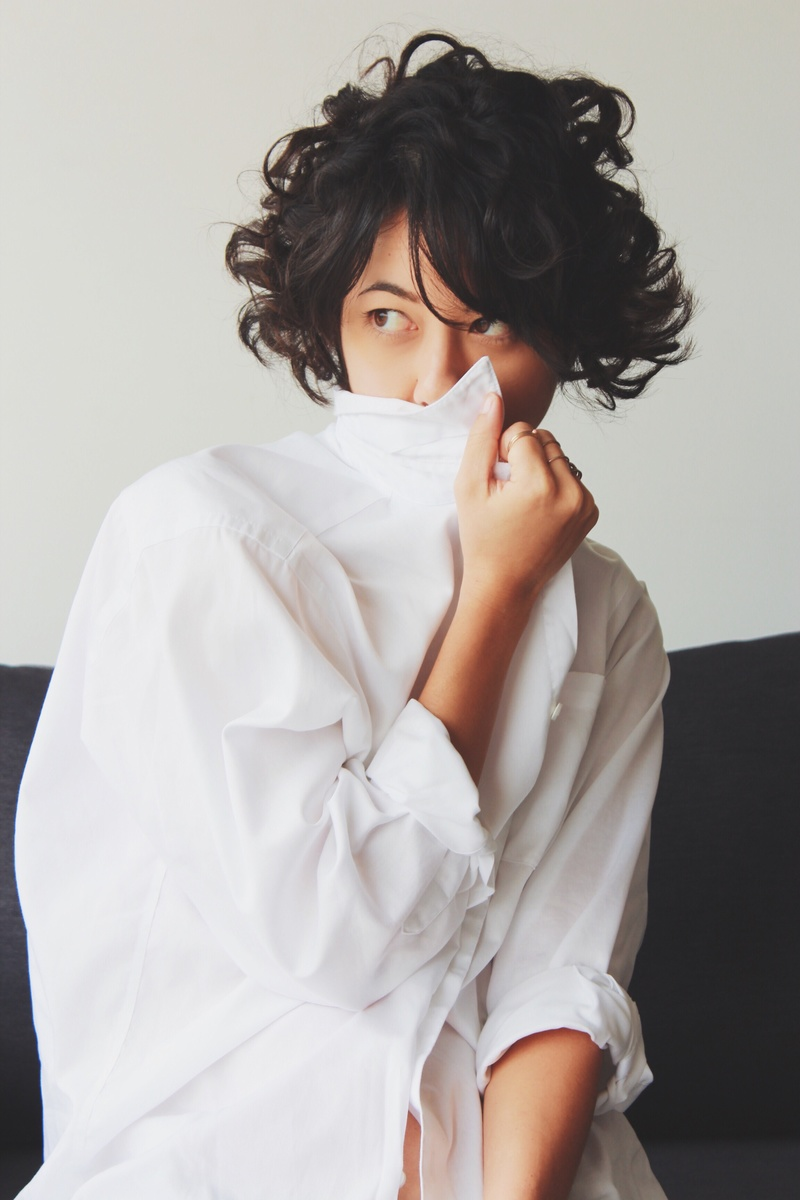 Female model photo shoot of Ell Hwang by blvckringanalog