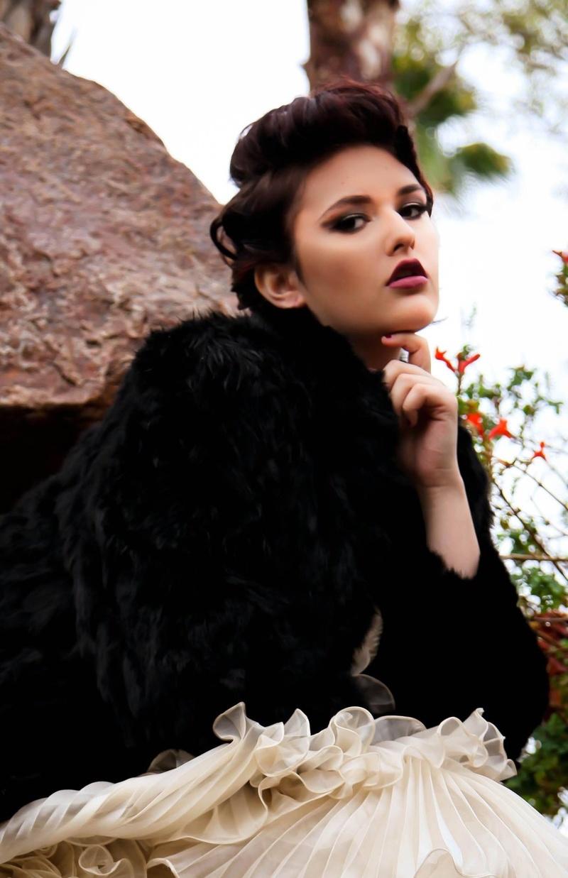 Female model photo shoot of Lisamakeupartistry  in Tre Bella