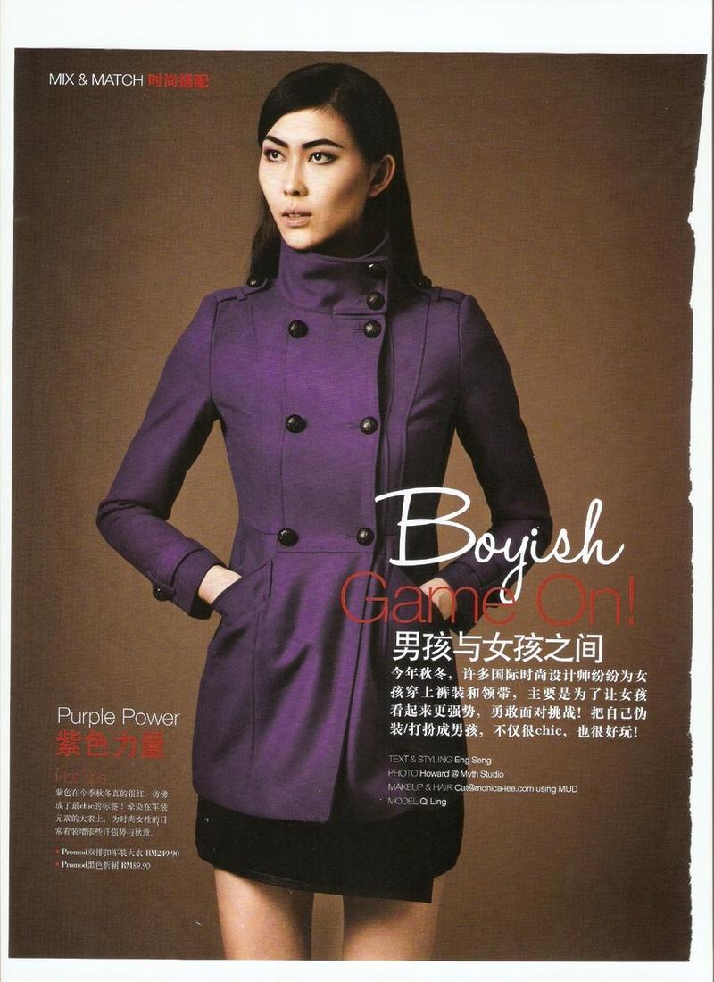 Female model photo shoot of OI LING