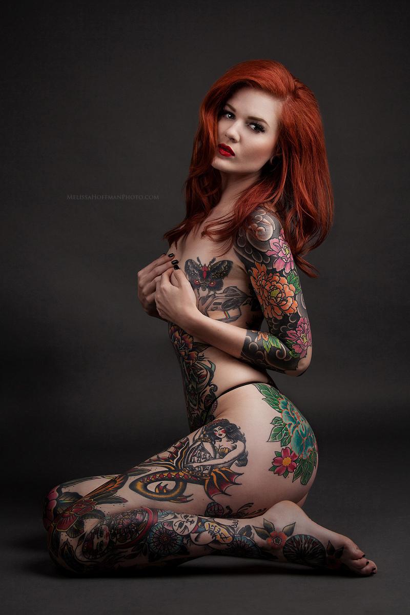 Female model photo shoot of Melissa Hoffman  in Studio
