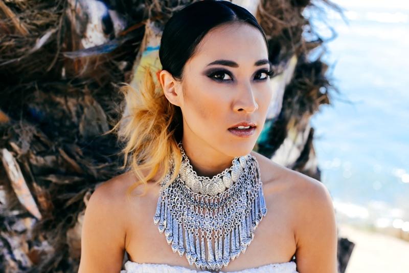 Female model photo shoot of Amanda Nguyen  in Sunken City, San Pedro
