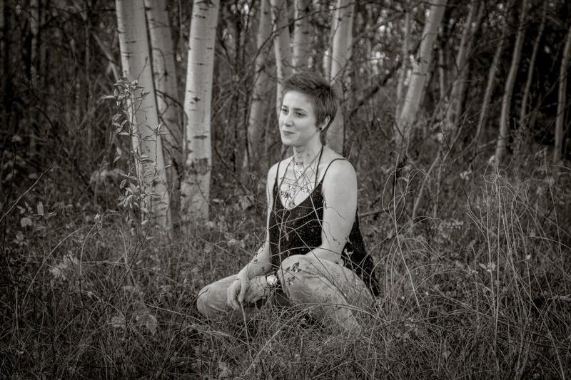Female model photo shoot of Ember-Stardust in white butte
