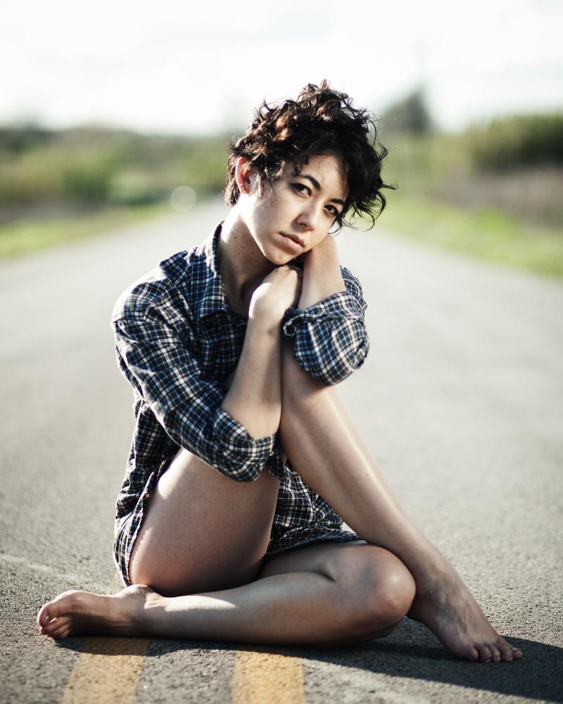 Female model photo shoot of Ell Hwang by Wylie Maercklein