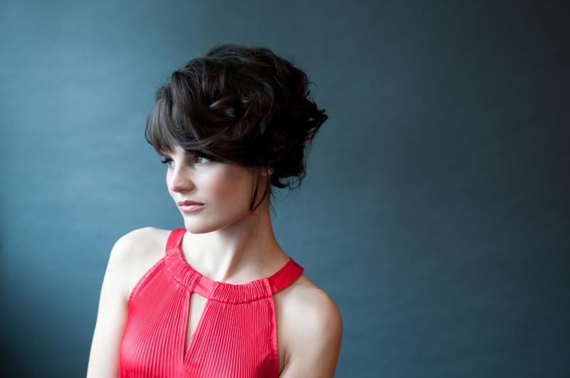 Female model photo shoot of Savina Marie in Imagine Three Beauty Studio, hair styled by Julie L Hill
