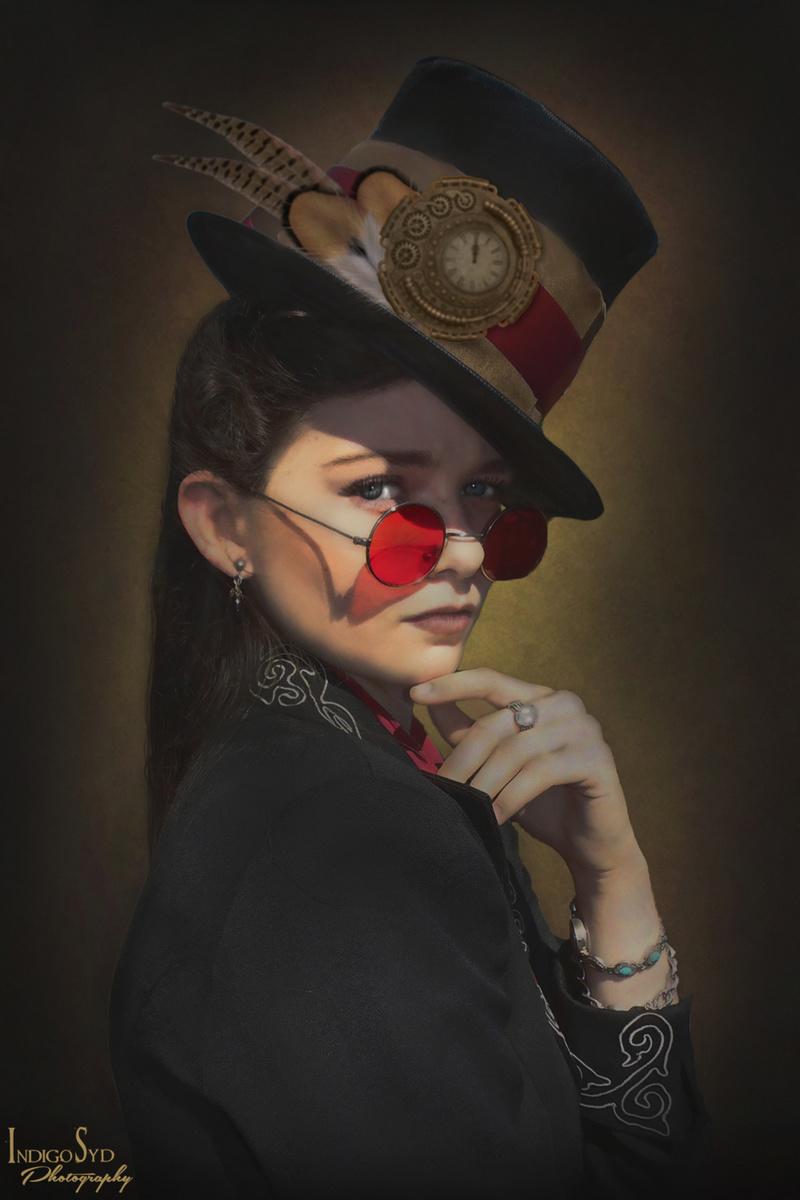 Female model photo shoot of Indigo Syd Horror Photography in Tampa, FL