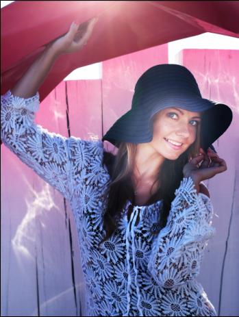 Female model photo shoot of Olya  in St Tropez